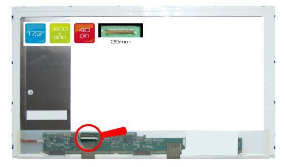 "CLAA173UA01A LCD 17.3"" 1600x900 WXGA++ HD+ LED 40pin display displej Chunghwa"