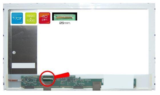 "LCD displej display HP Envy 17-2200 Serie 17.3"" WUXGA Full HD 1920x1080 LED"