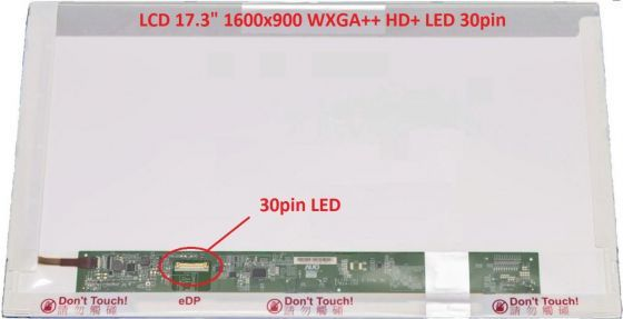 "LCD displej display Acer Aspire E5-721-80EE 17.3"" WXGA++ HD+ 1600x900 LED lesklý/matný"